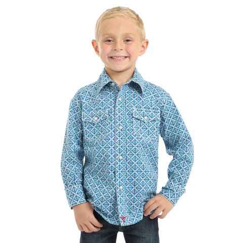 Boy's Wrangler 20X Advanced Comfort Snap Front Shirt BJC212M