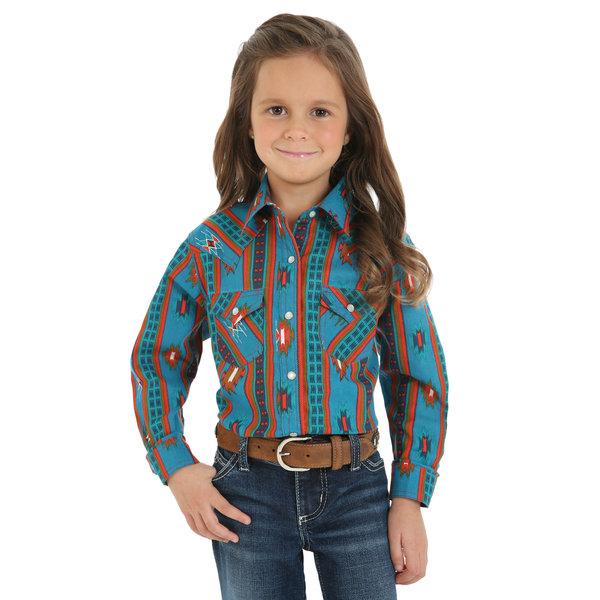 Wrangler Girl's Wrangler Snap Front Shirt GW3136M