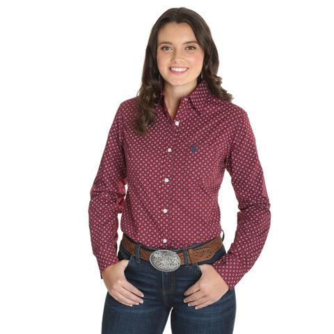 Women's Wrangler George Strait For Her Button Down Shirt LGSR681