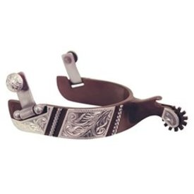 American Heritage Equine Rope Engraved Antique Spurs