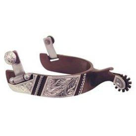 American Heritage Equine Rope Engraved Trimmed Spurs 260-340