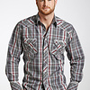 Men's 90 Proof Snap Front Shirt V6S4833 C3 2XL