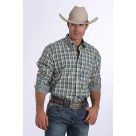 Cinch Men's Cinch Button Down Shirt MTW1104256-WHT C4 M