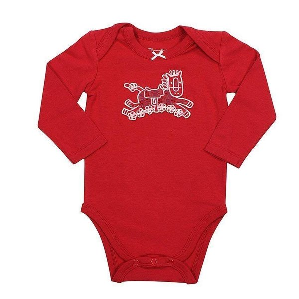 Wrangler Inf Red Ls Onesie Pqk836r C3 18 Corral Western Wear