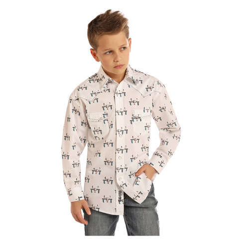Boy's Rock & Roll Cowboy Snap Front Shirt B8S2312