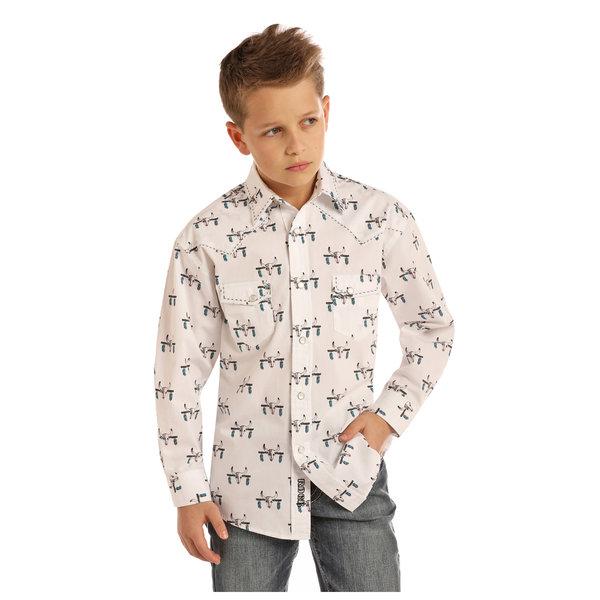 ROCK&ROLL COWBOY Boy's Rock & Roll Cowboy Snap Front Shirt B8S2312