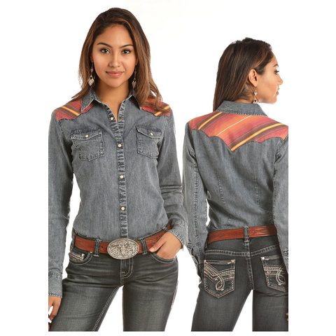 Women's Rock & Roll Cowgirl Snap Front Shirt B4S2061