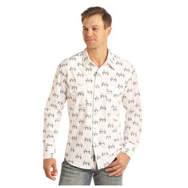 ROCK&ROLL COWBOY Men's Rock & Roll Cowboy Snap Front Shirt B2S2312