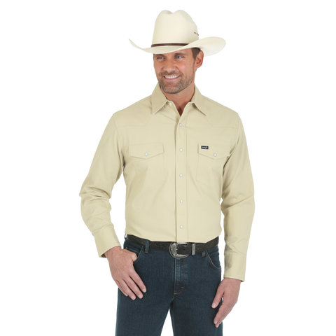 Men's Wrangler Advanced Comfort Snap Front Shirt MACW08T