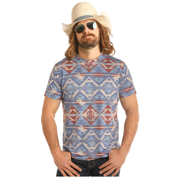 ROCK&ROLL DENIM Men's Rock & Roll Cowboy T-Shirt P9-2269