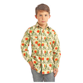 ROCK&ROLL COWBOY Boy's Rock & Roll Cowboy Snap Front Shirt B8S2330