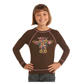 Rock and Roll Cowgirl Girl's Rock & Roll Cowgirl T-Shirt G4T2258