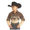 Boy's Long Sleeve Snap Front Shirt C0S2014
