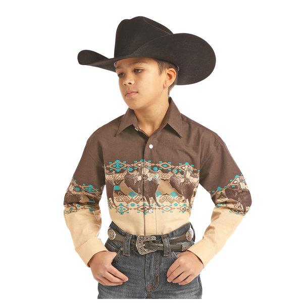 Panhandle Boy's Long Sleeve Snap Front Shirt C0S2014