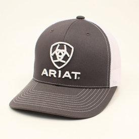 Ariat Grey and White Logo Cap