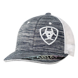 Ariat Heather Grey White Logo Kids Cap