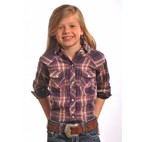 Girl's Panhandle Snap Front Shirt C6S5466 C3 Medium