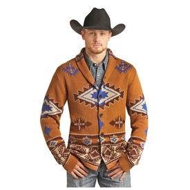 Rock & Roll Cowboy Men's Rock & Roll Cowboy Sweater C4  Size 2XL