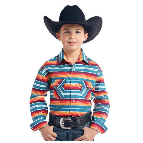 Boy's Rough Stock Snap Front Shirt R2S2168