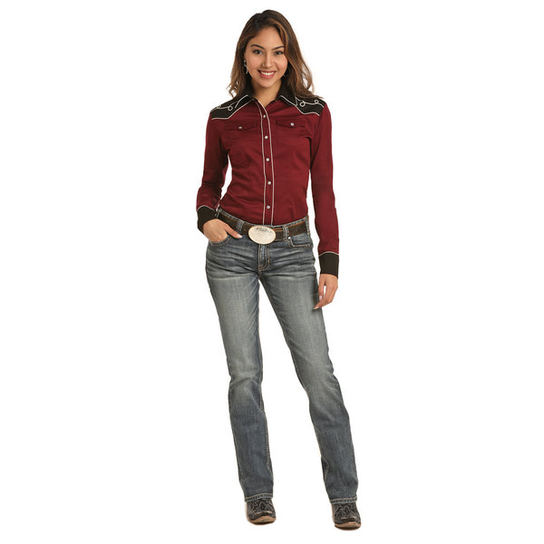 Rock and Roll Cowgirl Women's Rock & Roll Cowgirl Snap Front Shirt B4S3103