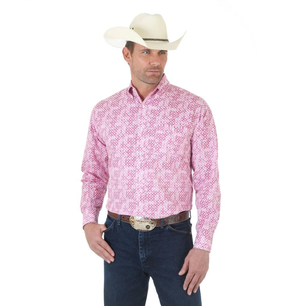 e00233b0a5 Wrangler Men s Wrangler Tough Enough To Wear Pink Long Sleeve Shirt ...