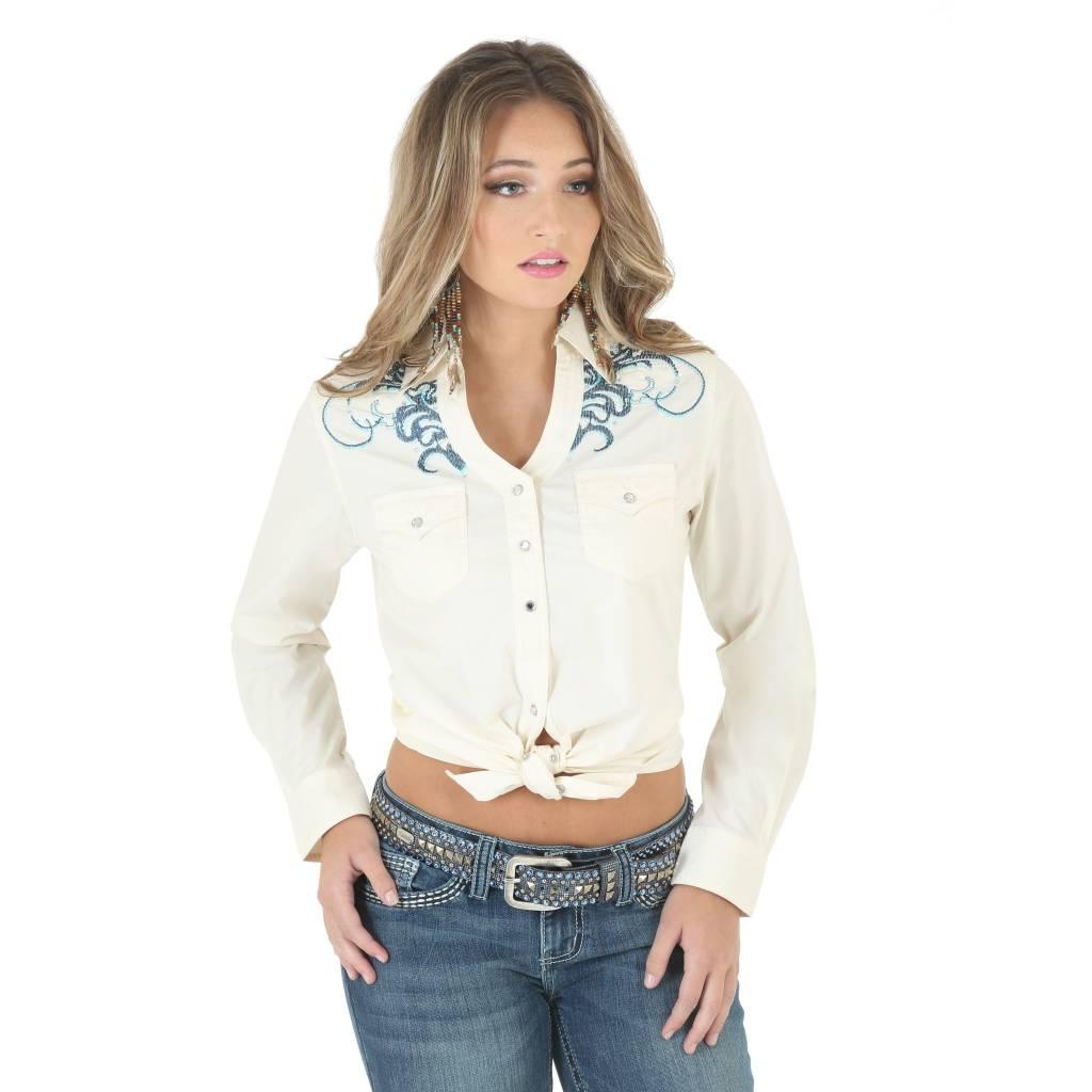 30ff0543 Wrangler Women's Rock 47 Long Sleeve Shirt LJ7201N | Corral Western Wear