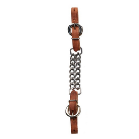 Berlin Custom Leather Double Chain Curb Strap