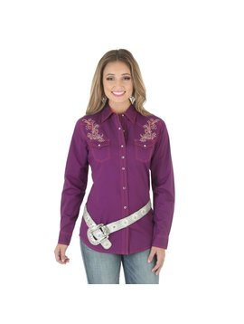 Wrangler Women's Rock 47 by Wrangler Snap Front Shirt LJ7011P