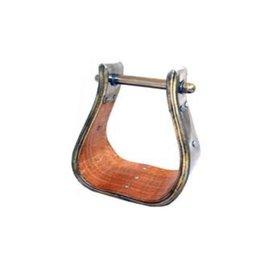 American Heritage Equine AHE X-WIDE WOOD BELL STIRRUP 254-635
