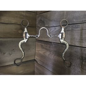 "Classic Equine 8"" Cavalry Cheek Ported Twisted Wire Bit"