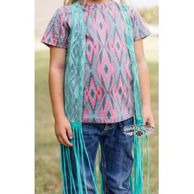 Crazy Train Girl's Crazy Train LA Azteca Fringe Duster