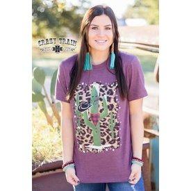 Crazy Train Women's Cactus Snowman T-Shirt