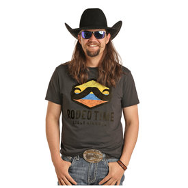 Rock & Roll Cowboy Men's Leroy Gibbons by Rock & Roll Cowboy T-Shirt P9-3020 C5