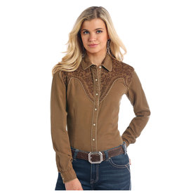 Panhandle Women's Rough Stock Snap Front Shirt R4F2136