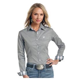 Panhandle Women's Rough Stock Button Down Shirt R4B3200