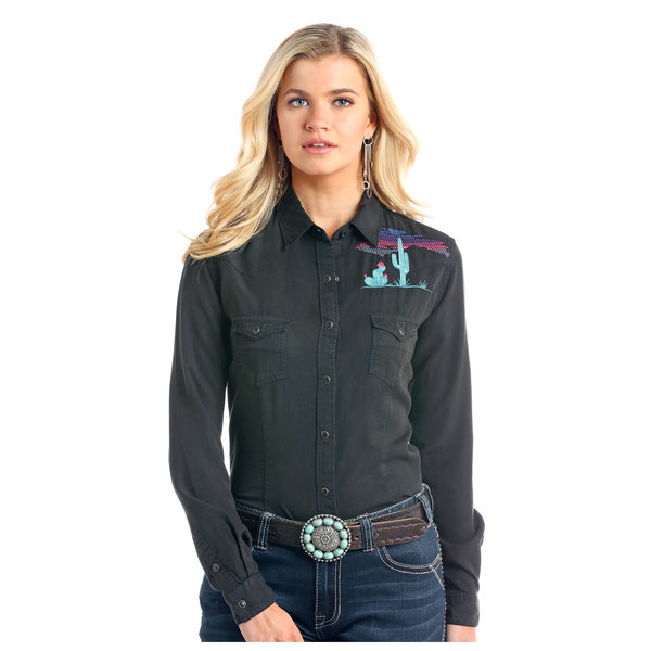 Wrangler Women's Rough Stock Snap Front Shirt R4F2159