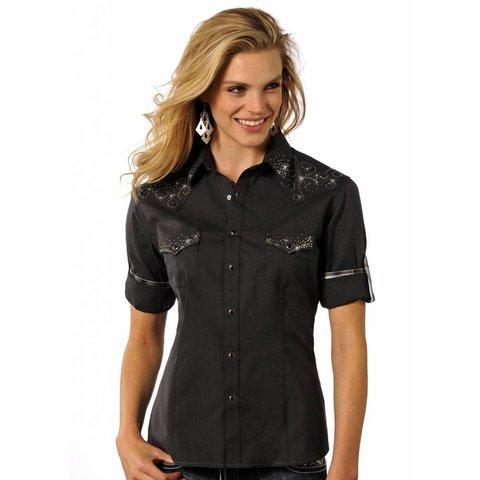 Women's Rough Stock Snap Front Shirt R4S4219 C4 Medium
