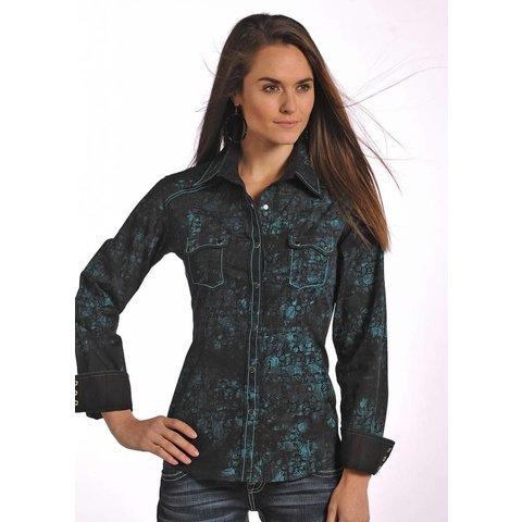 Women's 90 Proof Snap Front Shirt V8S4828 C3 Medium