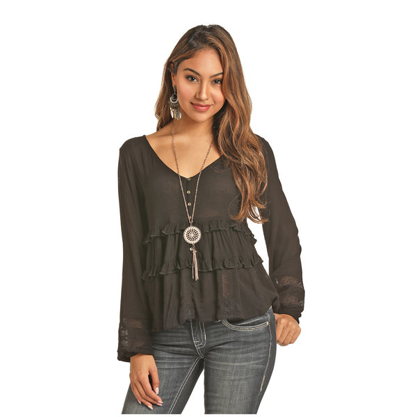 Rock and Roll Cowgirl Women's Rock & Roll Cowgirl Blouse B4-3108