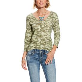 Ariat Women's Camo 3/4 Sleeve Shirt C4  Sz Medium