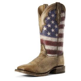 Ariat Men's Ranchero Stars and Stripes Boot 10027183 C3