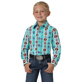 Wrangler Boy's Wrangler Checotah Snap Front Shirt BC1256M