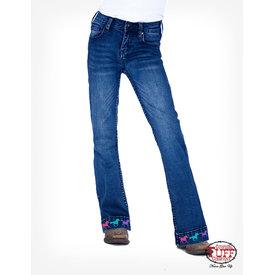 Cowgirl Tuff Girl's Cowgirl Tuff Ride Fast Trouser Jean GJATR
