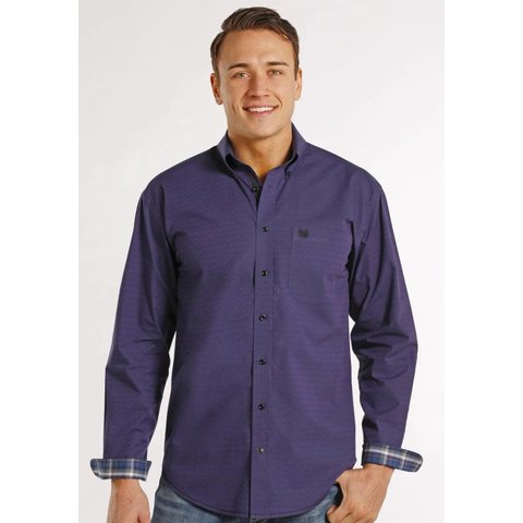 Men's Rough Stock Button Down Shirt R0D8037 C4 2XL