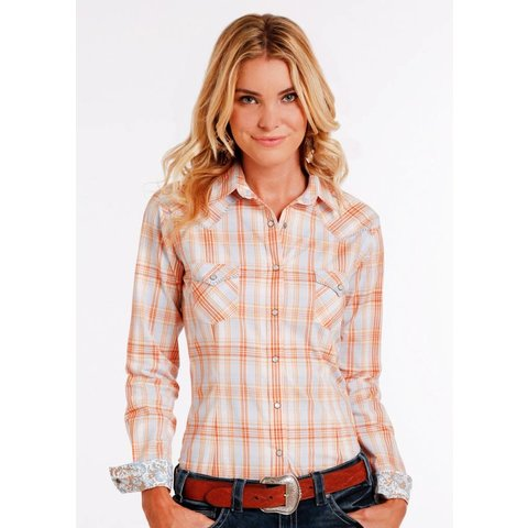 Women's Rough Stock Snap Front Shirt R4S2197 C3 Large