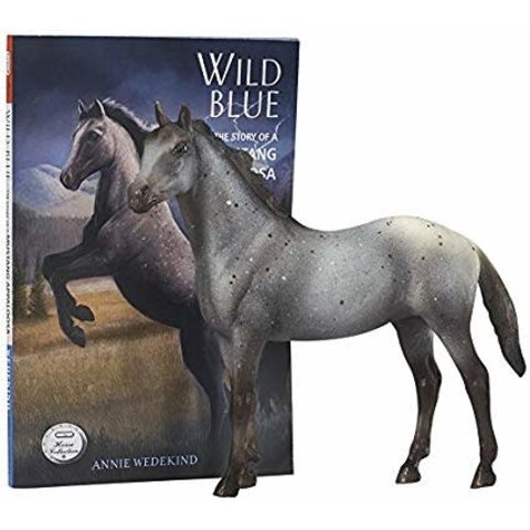 Wild Blue Horse and Boot Set 6136