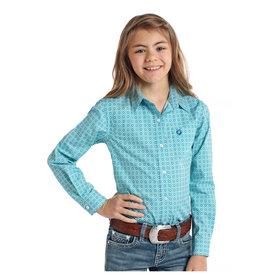 Panhandle Girl's Rough Stock Button Down Shirt R6B4010