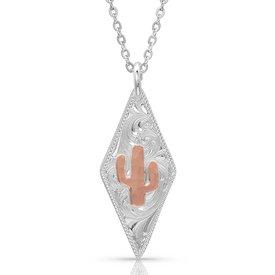Montana Silversmiths Cactus Diamond Necklace