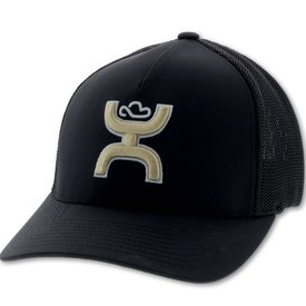 Hooey Men's Black and Gold Coach Cap
