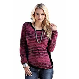 Cruel Girl Pink and Black Long Sleeve Top Large